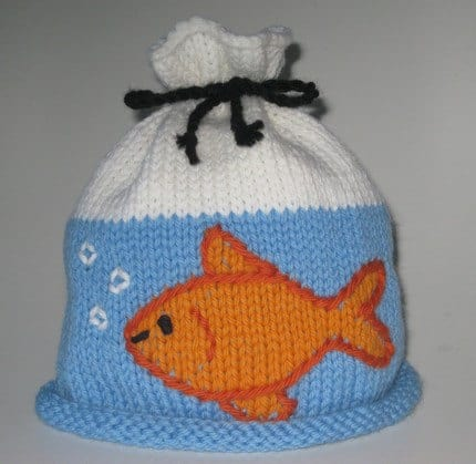 Goldfish in a bag hat
