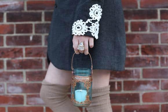 Lace applique cuffs