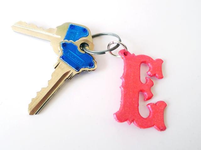 Monogram keychain