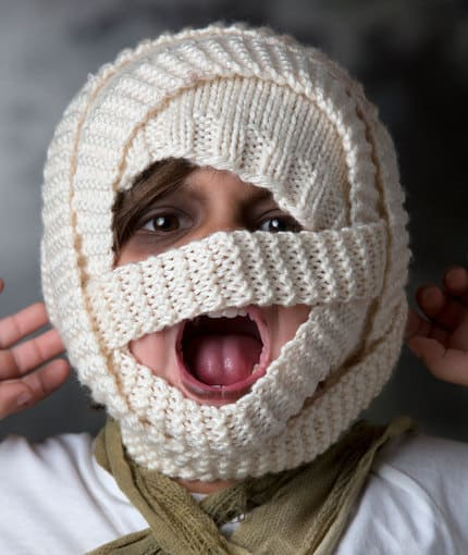 Mummy bandage hat
