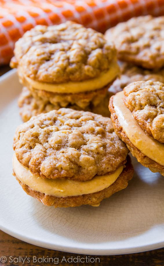 Oatmeal pumpkin cream pies