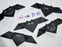 Origami bats 200x150 13 Cute Bat Crafts for Halloween