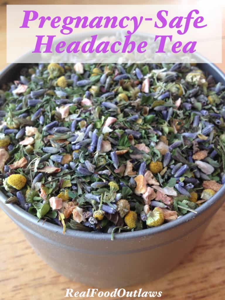 Pregnancy safe headache tea