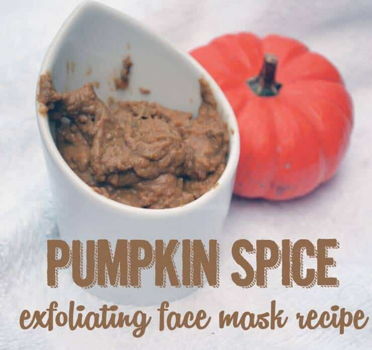 Pumpkin exfoliator with clay and cinnamon
