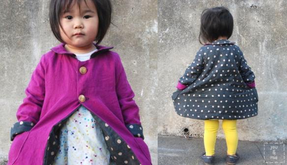 Reversible kids' coat