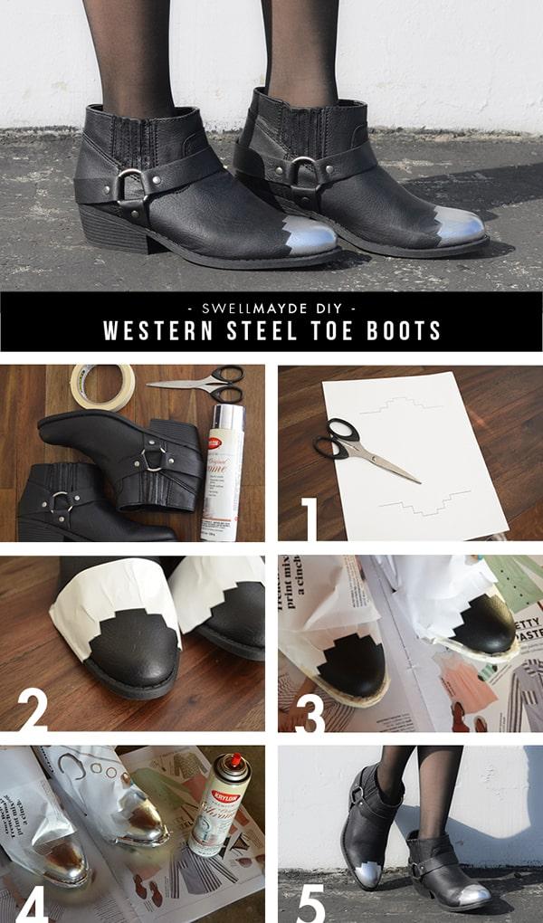 """Steel"" toe boots"