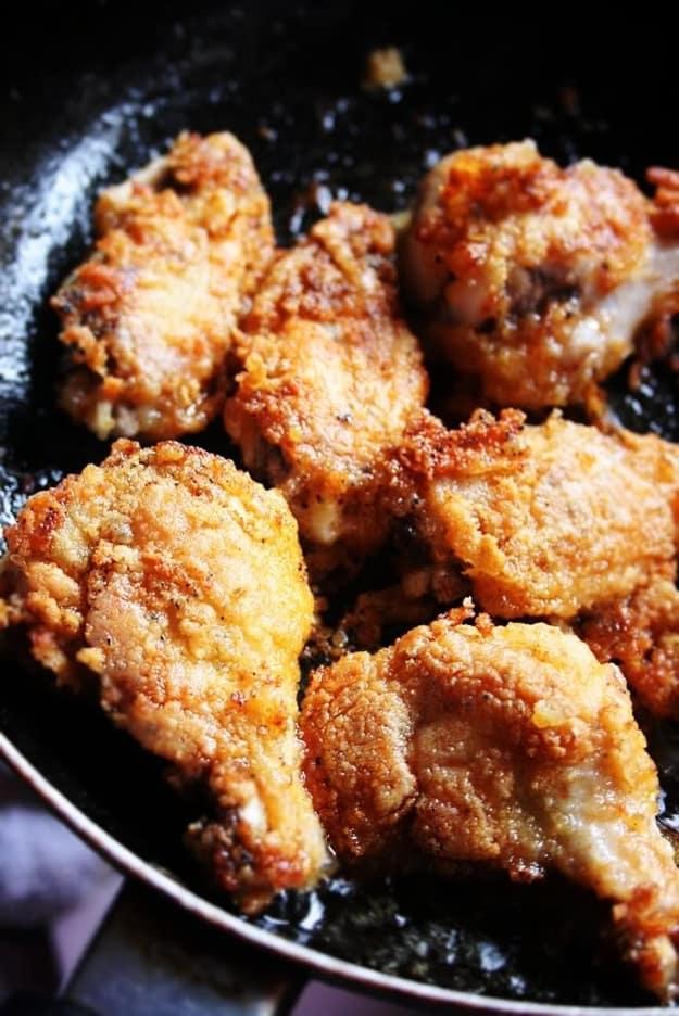 Sticky garlic chicken