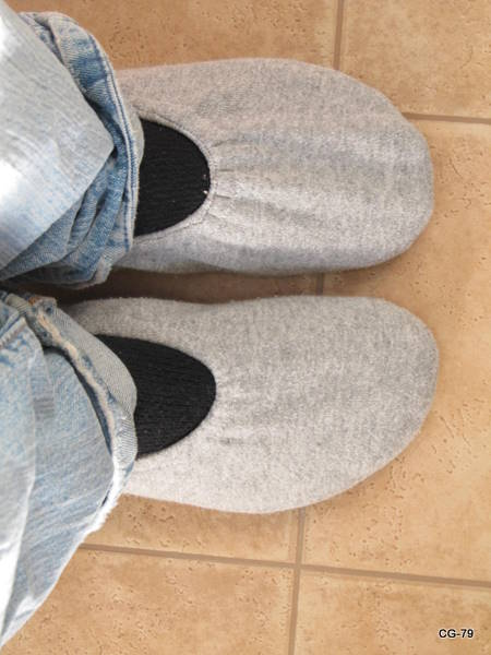 Sweatshirt slippers