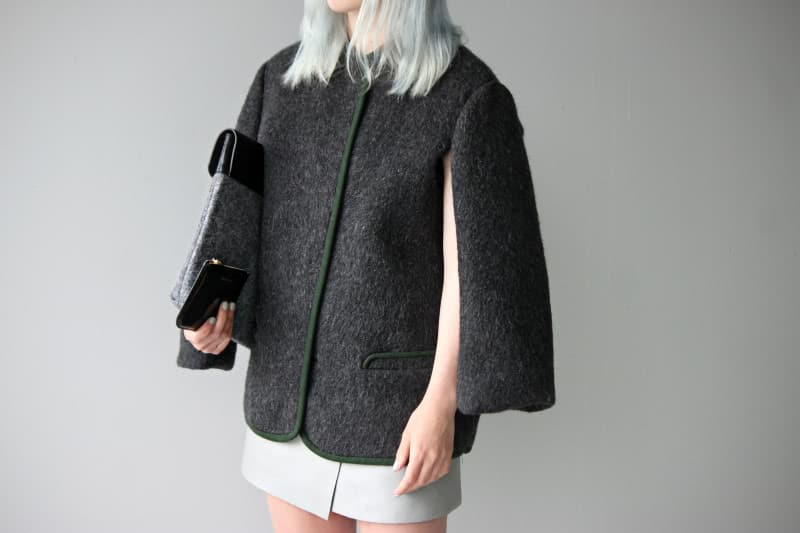 """Thrown over shoulder"" style jacket"