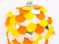 Tissue Paper Pumpkin 200x150 Unique DIY Pumpkins That Will Blow You Away