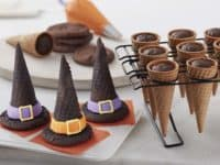 Witch Hat Cones 200x150 No Tricks, Just Treats: Spooky and Tasty Halloween Desserts