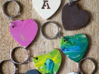 Wooden hearts keychains 200x150 Beautify Your Keys With These DIY Keychains