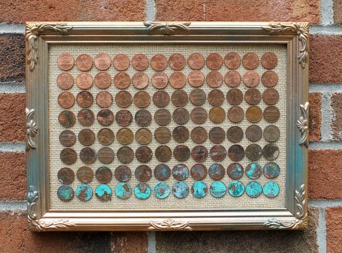 penny wall art