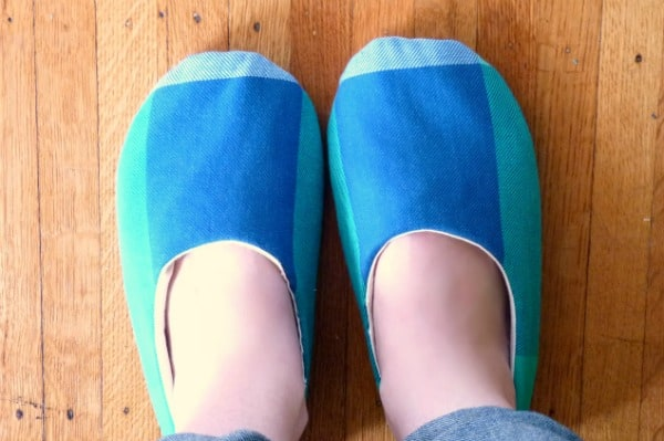 simple sewn slippers