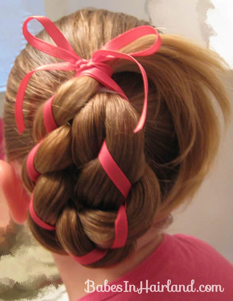 4 strand braid with ribbon