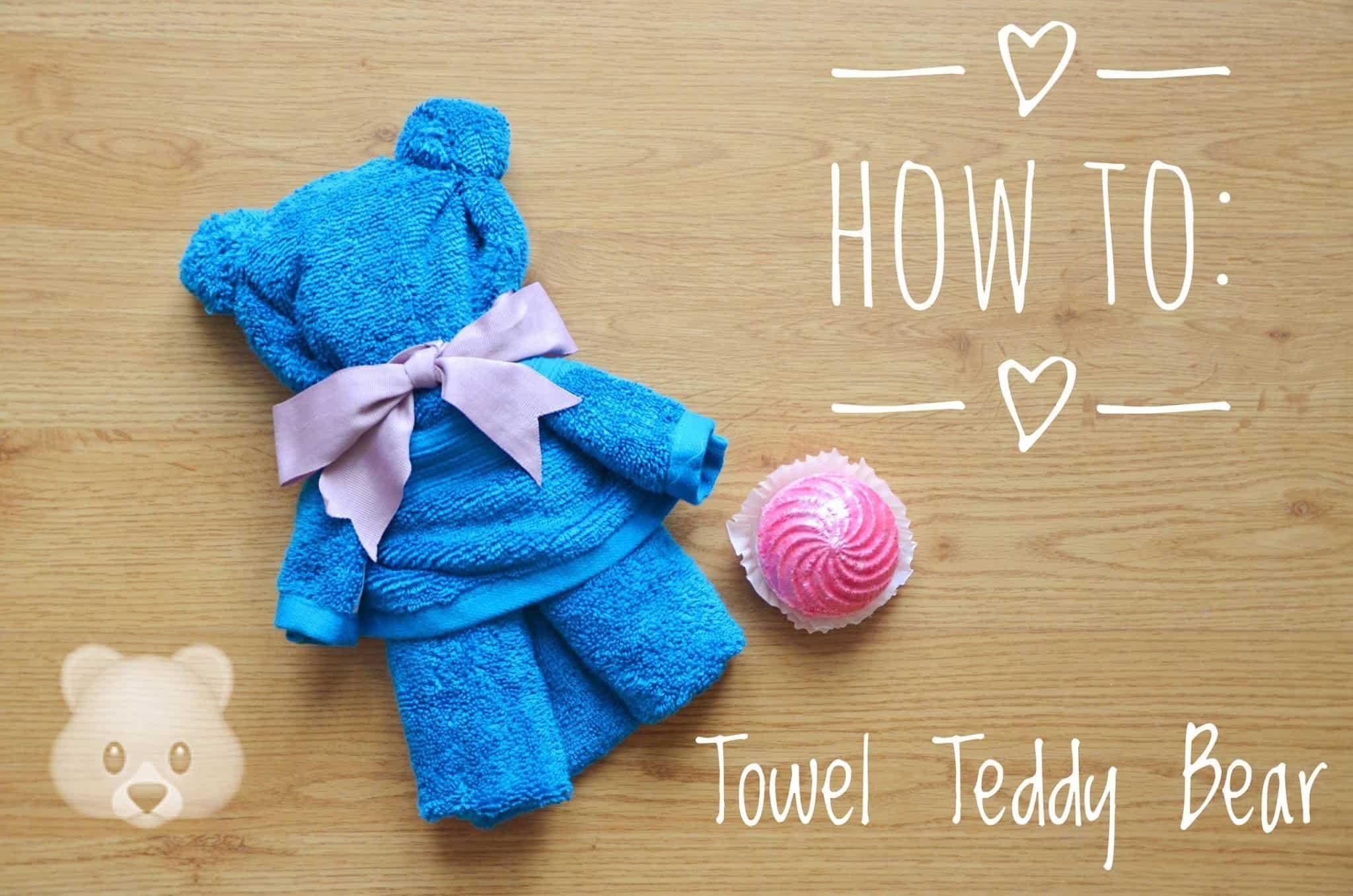 Beach towel memory bear