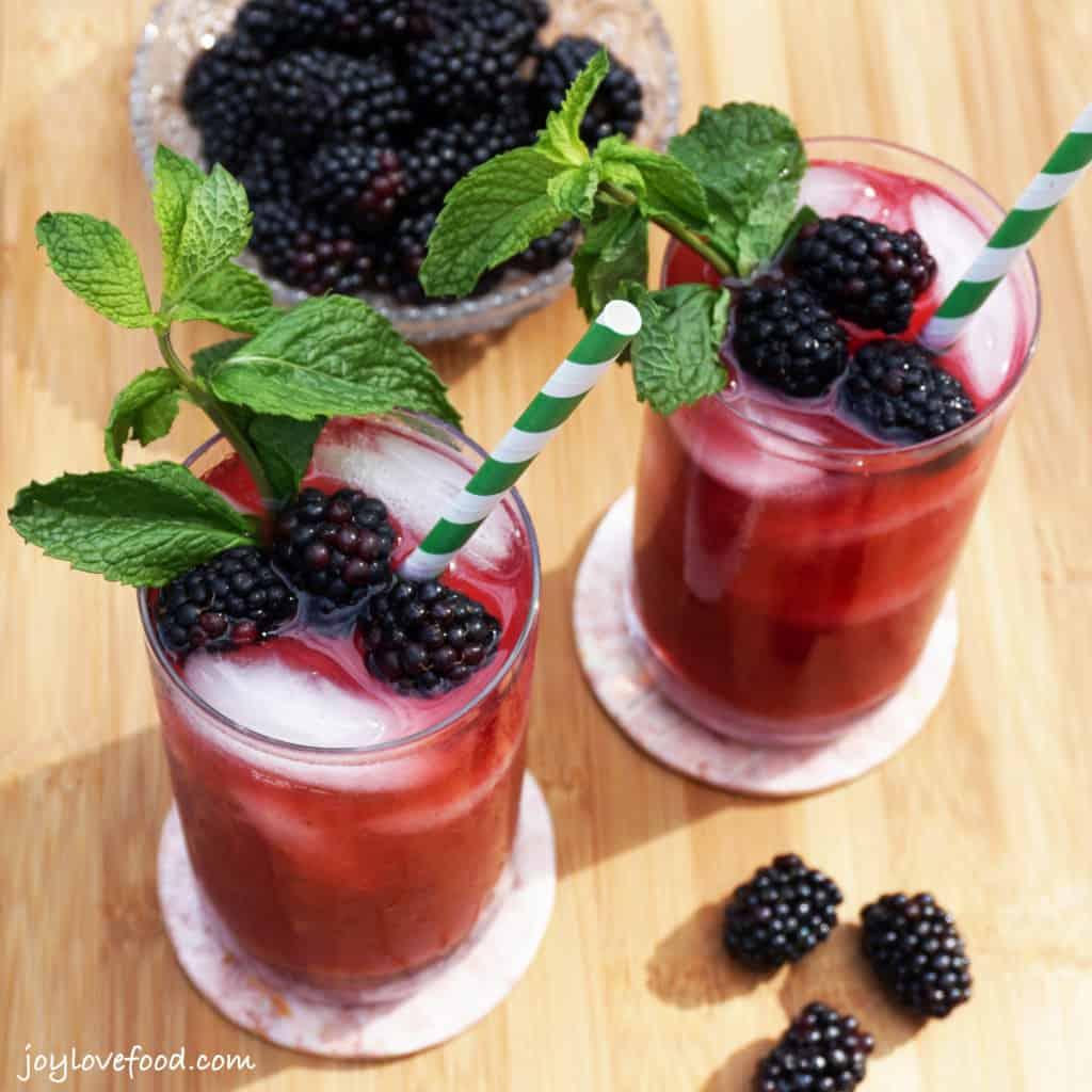 Blackberry Mint Tea