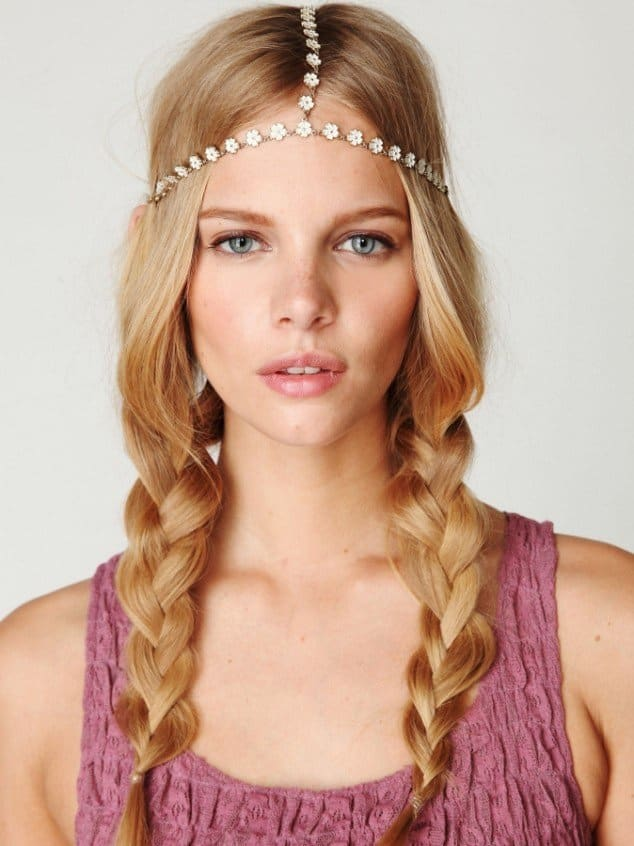 Braids and hair jewelry