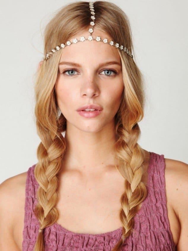 Braids and hair jewelry