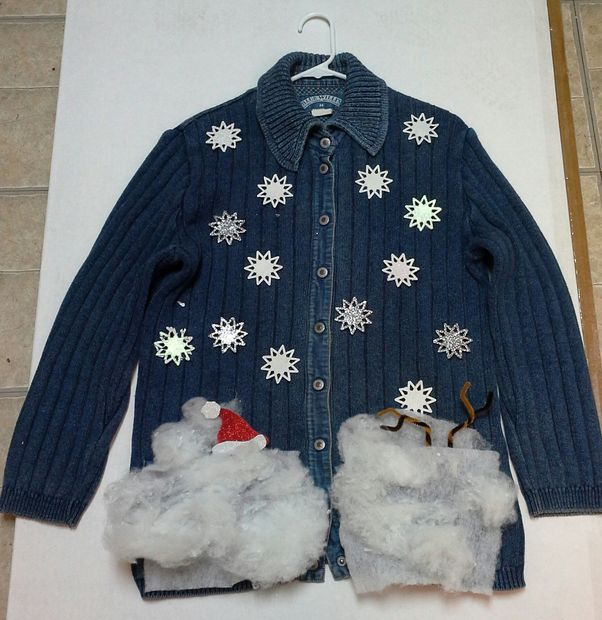"""""""Buried in the snow"""" sweater"""