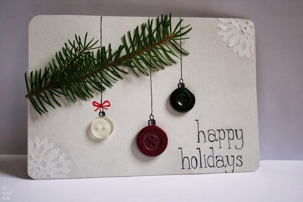 Button ornament cards
