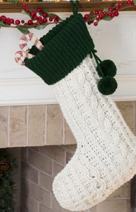 Cabled stocking