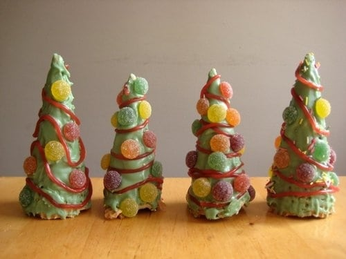 Christmas tree candy cones