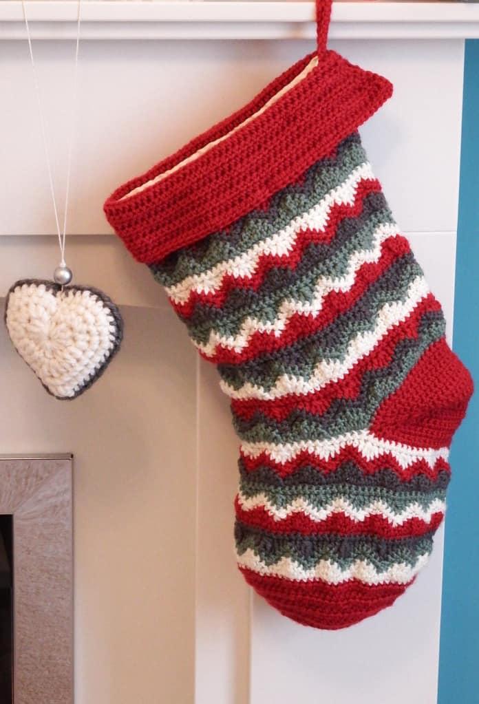 Classy zig zag stocking