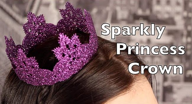 DIY sparkly crown