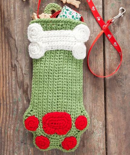 Dog paws stocking