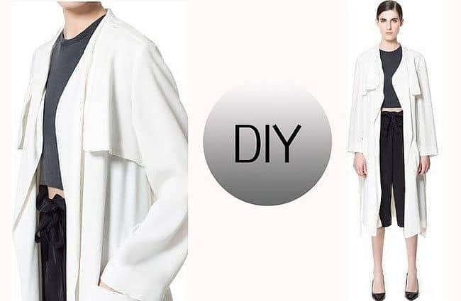 Draping trench coat DIY