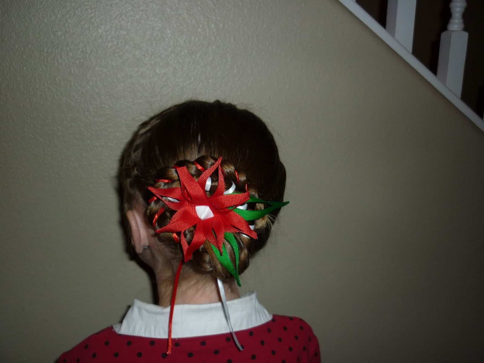 Embellished holiday bun