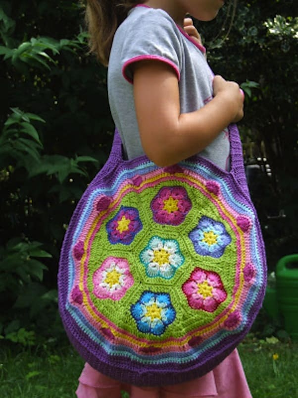 English Fantasy Flower bag