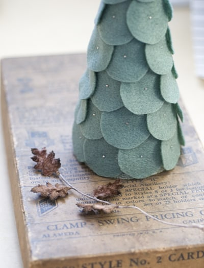 Felt shingled tree