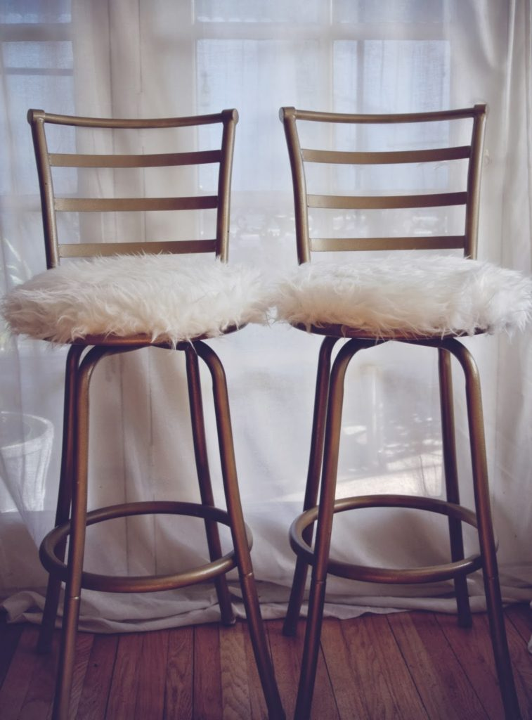 Fluffy Bar Stools