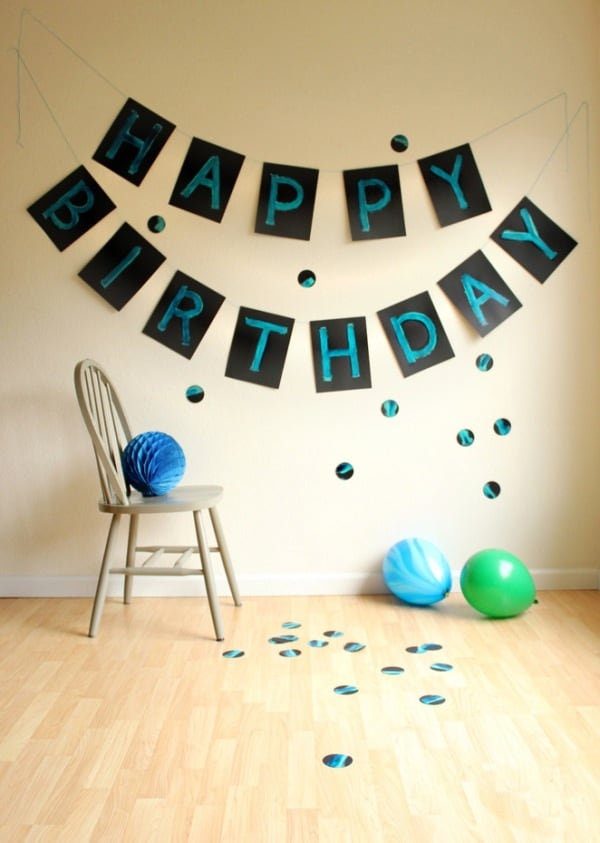 Giant painted birthday banner