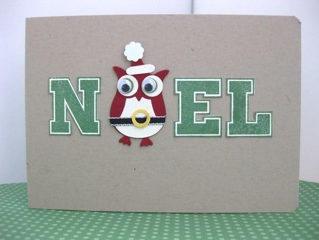 Googly eyed owl card