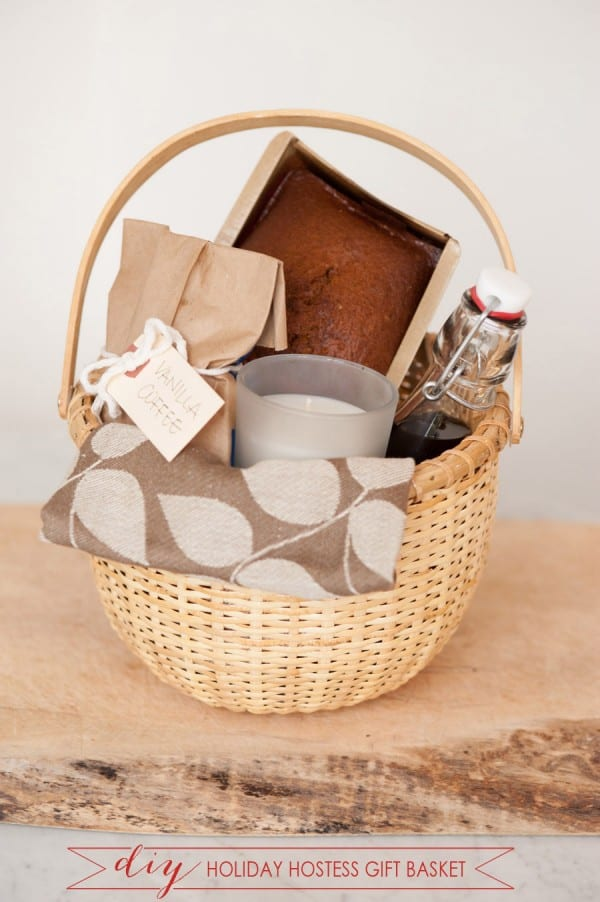Holiday hostess Christmas basket