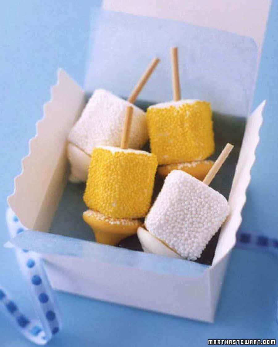 Homemade Marshmallow Dreidels