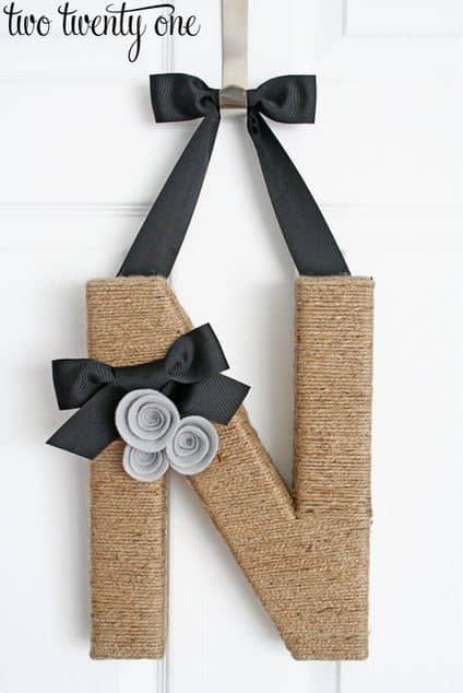 Jute Wrapped Monogram