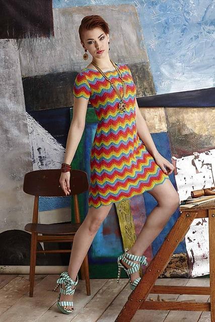 Missoni Inspired Shift Dress