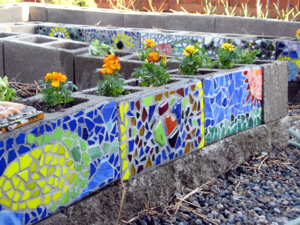 Mosaic Garden Beds