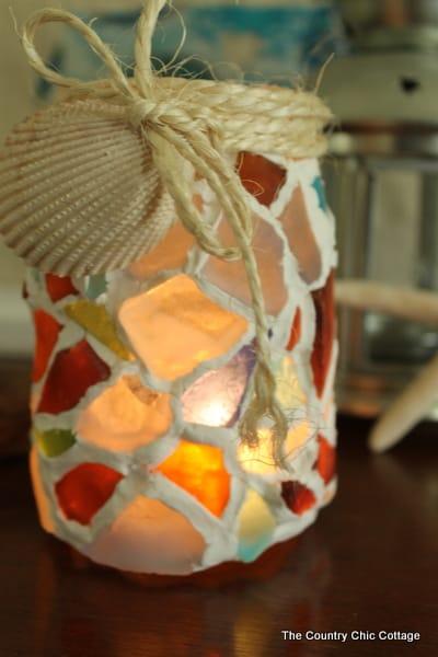 Mosaic Mason Jar