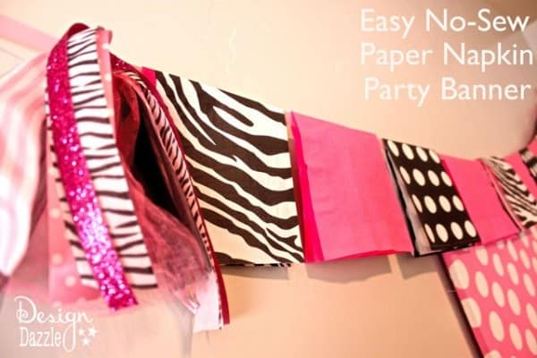 No-sew paper napkin banner