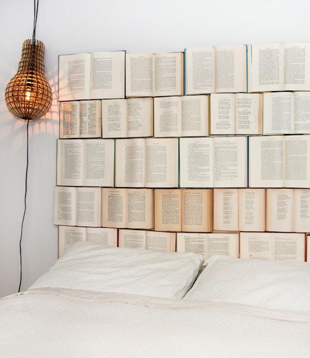 Open book headboard
