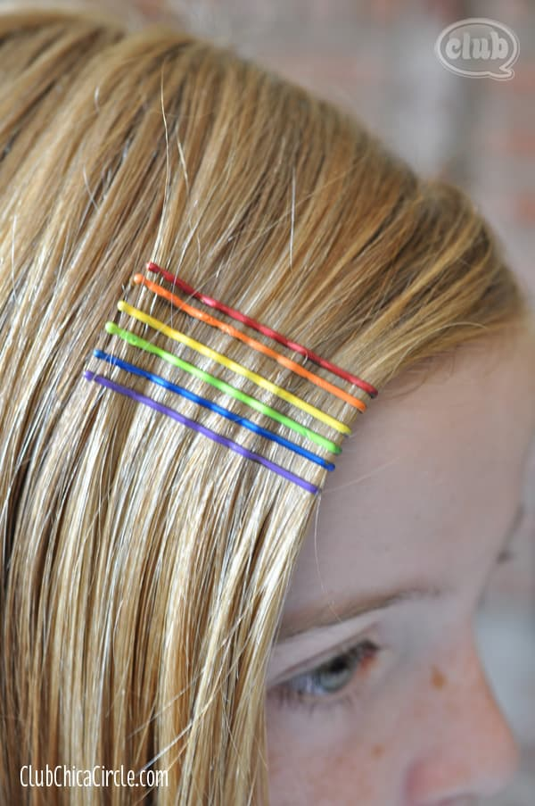 Rainbow Bobby Pins