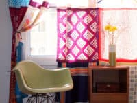 Scarf Curtains 200x150 12 DIY Projects That Will Turn Your Home into a Bohemian Paradise