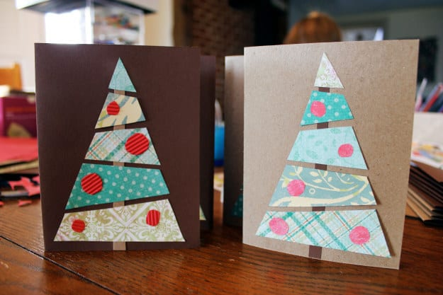 Scrapbooking paper trees
