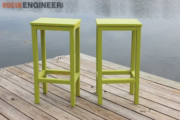 Simple Wooden Bar Stools