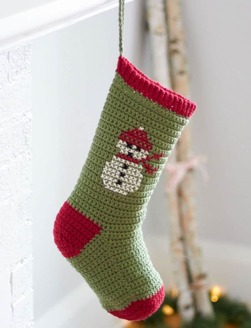 Snowman sock stocking